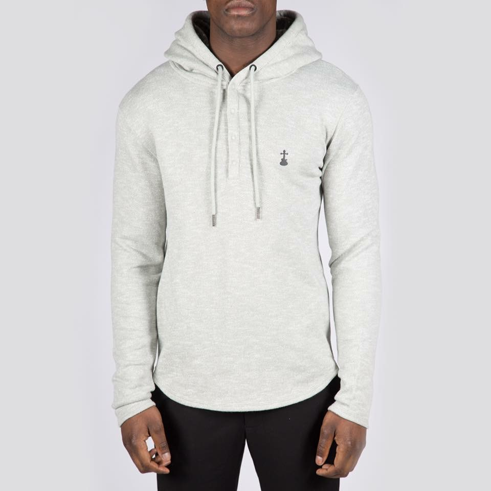 Elvis & Jesus Langford lightweight Grey hoodie