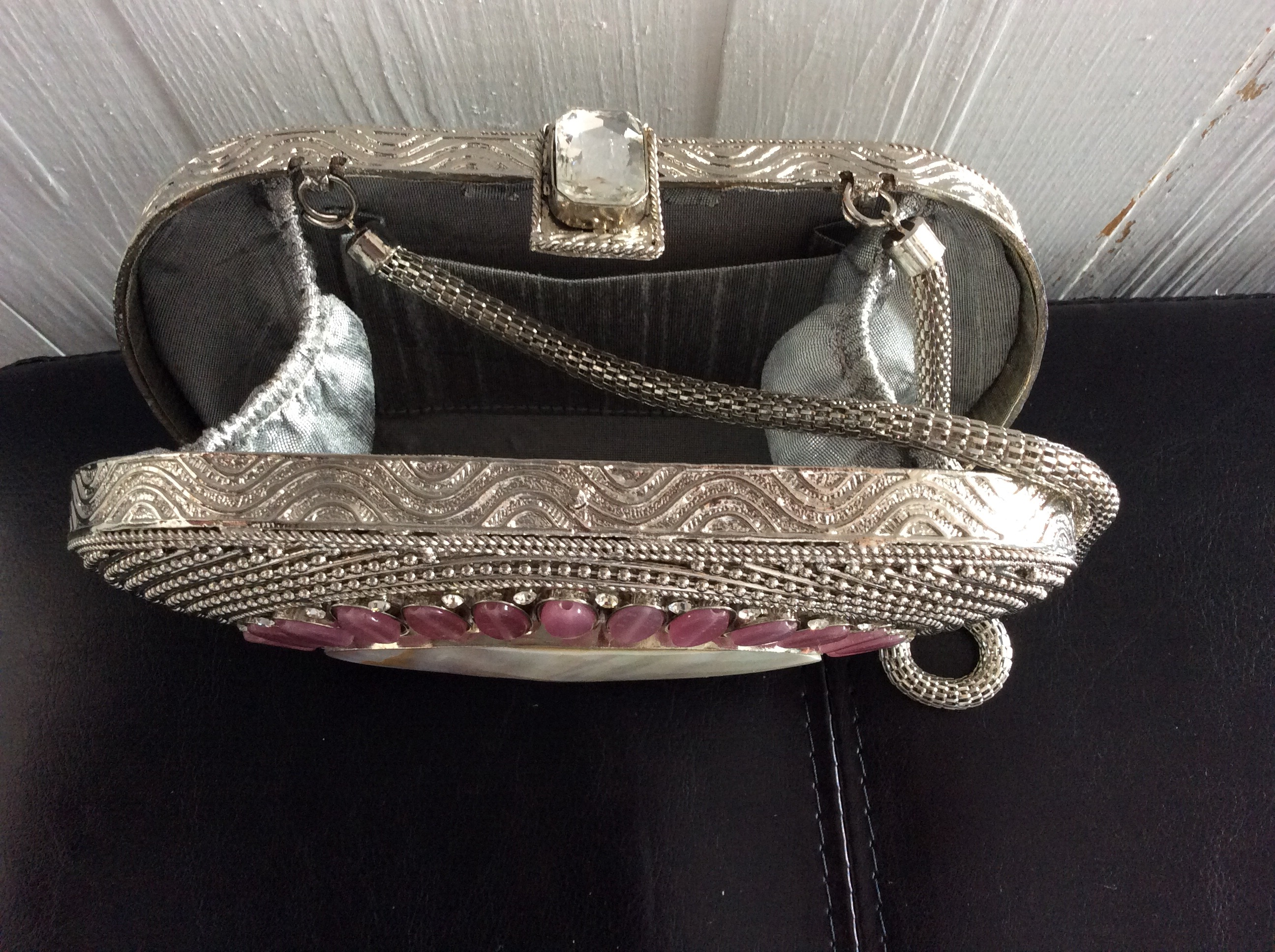 Amishi Luxury Clutch with semi precious stones