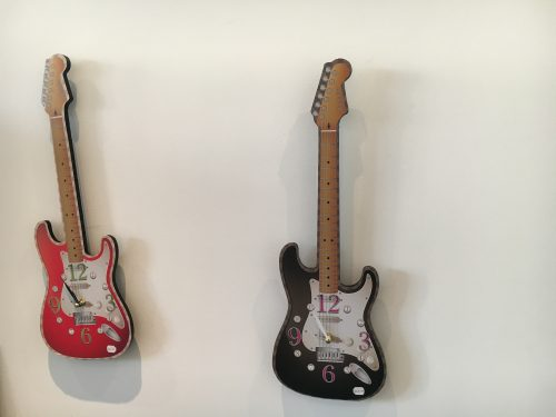 Novelty Guitar clock - Sartorial Boutique and Gifts