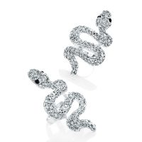 Silver colour crystal effect snake expandable ring - Sartorial Boutique and Gifts