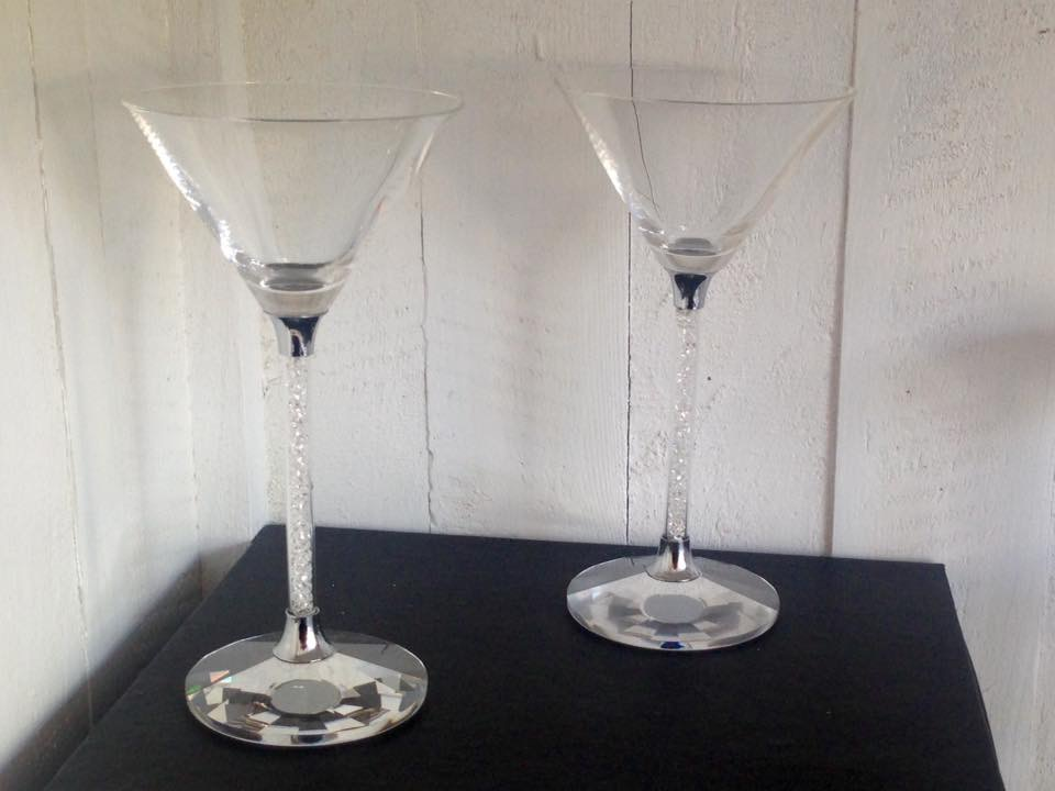 Swarovski inspired crystal stem cocktail glasses - Sartorial Boutique and Gifts