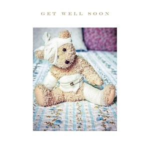Susan O'Hanlon card - Get well soon bear - Sartorial Boutique and Gifts