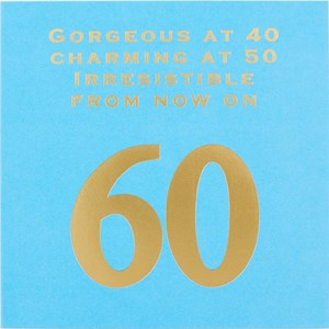 Susan O'Hanlon - Gorgeous at 40, Charming at 50, Irresistible from now on - Age 60card - Sartorial Boutique and Gifts