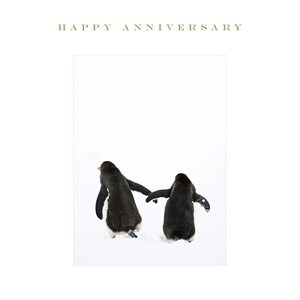 Susan O'Hanlon card - Happy Anniversary Penguins - Sartorial Boutique and Gifts