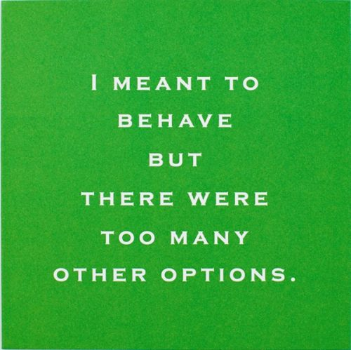 Susan O'Hanlon card - I meant to behave - Sartorial Boutique and Gifts