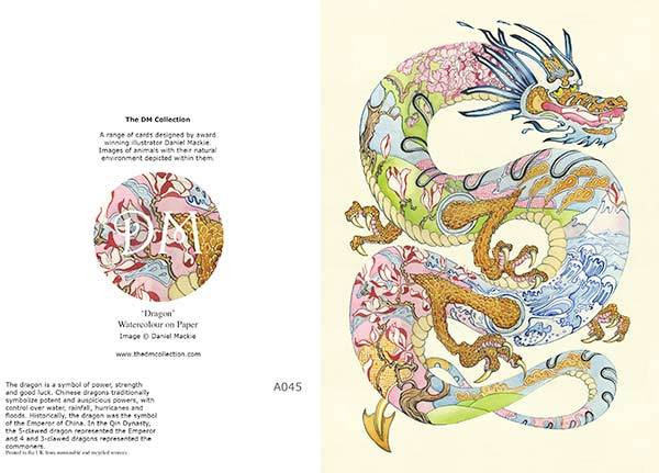 Daniel Mackie Collection cards - Dragon - Sartorial Boutique and Gifts