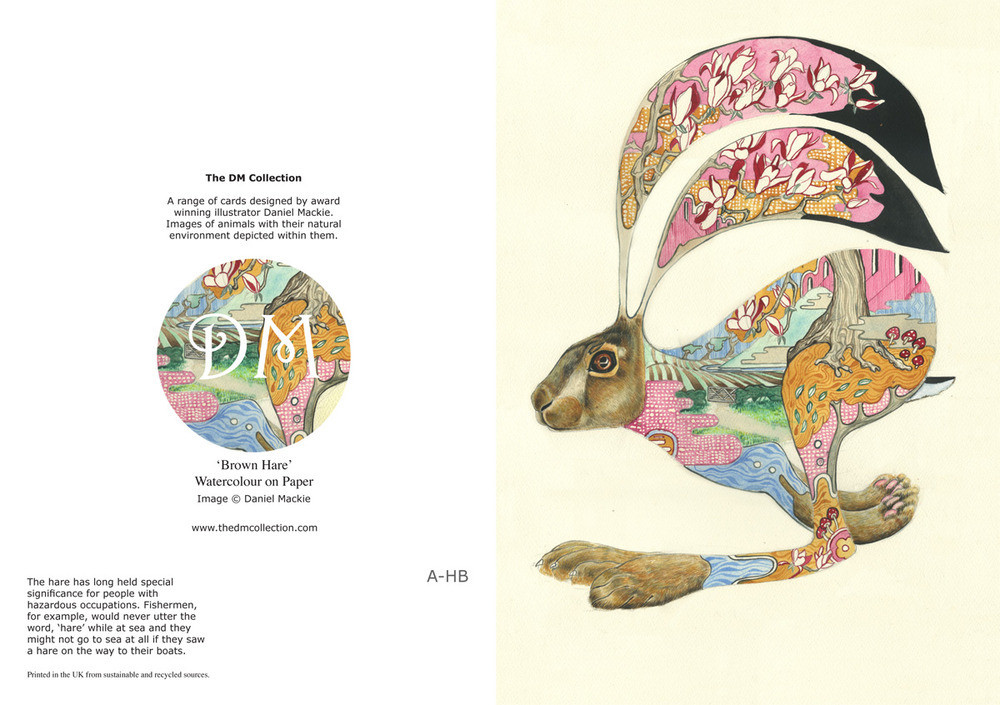 Daniel Mackie Collection cards - Hare - Sartorial Boutique and Gifts