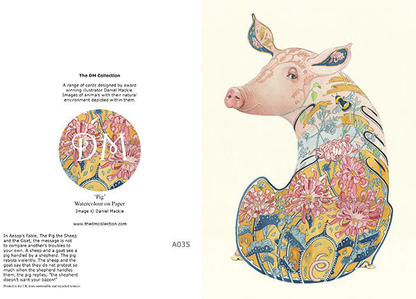 Daniel Mackie Collection cards - Pig - Sartorial Boutique and Gifts