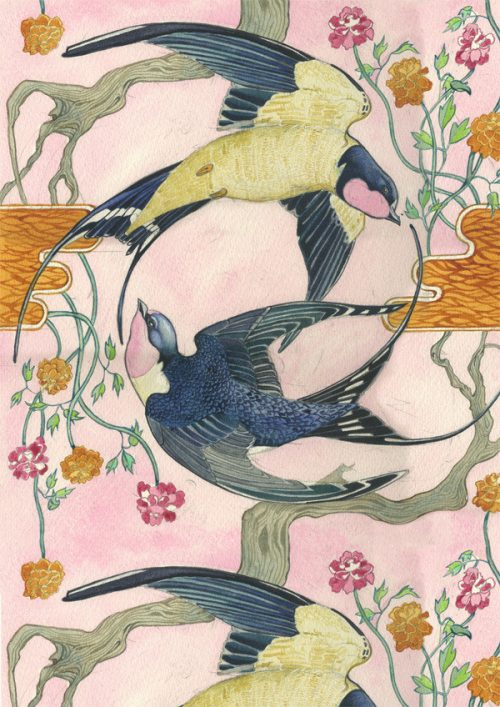 Daniel Mackie Collection cards - Swallows - Sartorial Boutique and Gifts