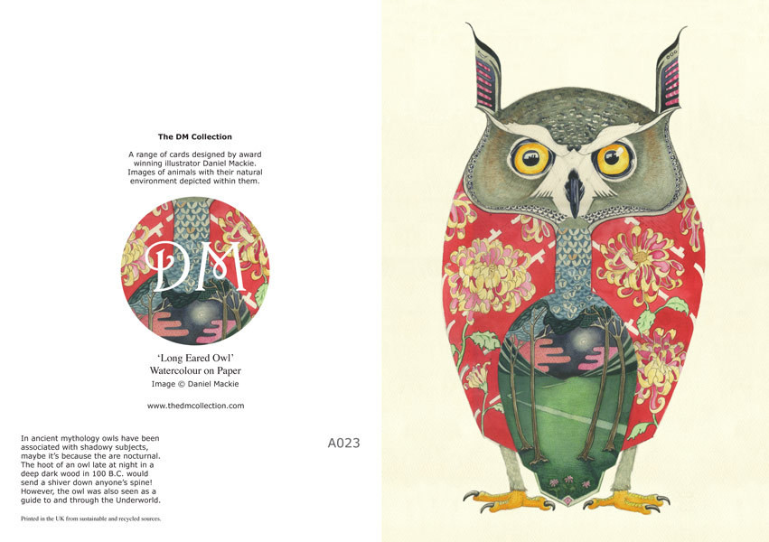 Daniel Mackie Collection cards - Owl - Sartorial Boutique and Gifts