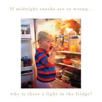 Susan O'Hanlon card - If midnight snacks are so wrong... - Sartorial Boutique and Gifts