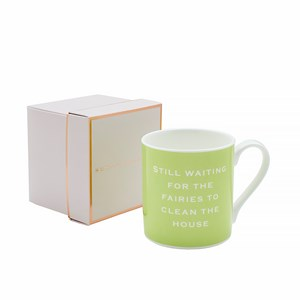 Susan O'Hanlon mug - Waiting for fairies to clean the house - Sartorial Boutique and Gifts