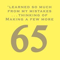 learned so much from my mistakes... 65 card
