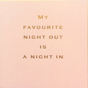 Susan O'Hanlon card - Fav night out... - Sartorial Boutique and Gifts