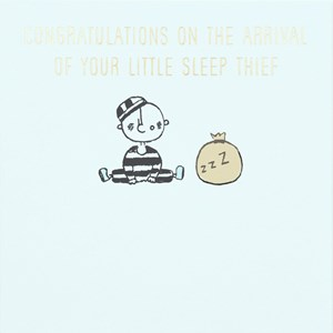 Susan O'Hanlon card - Baby Boy - Sleep Thief - Sartorial Boutique and Gifts