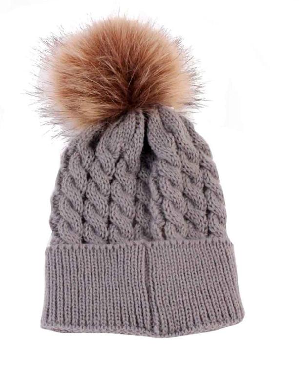 Baby / Toddler Faux Fur pom pom hats