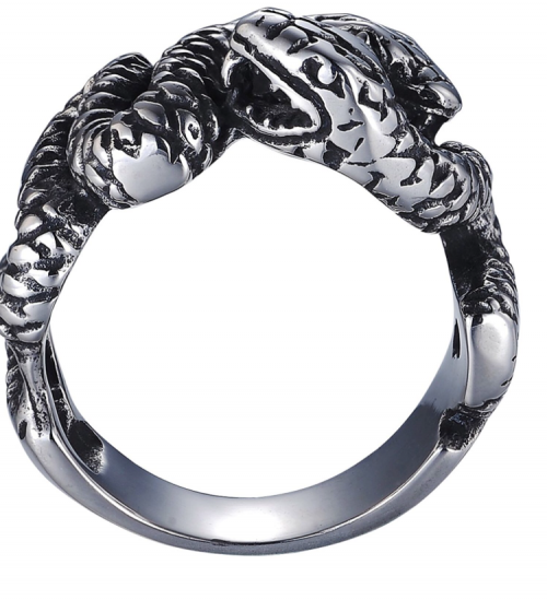 Stainless Steel double Snake ring