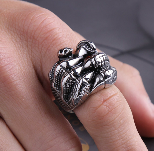 Stainless Steel Dragon Claw ring