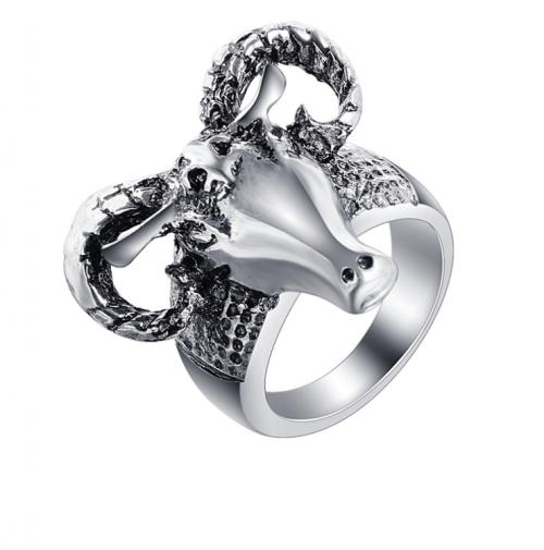 Stainless Steel Ox Head ring