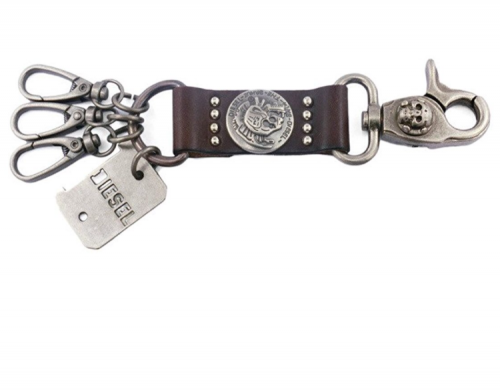 Diesel Leather belt loop keychain