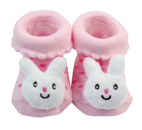 Rabbit baby booties