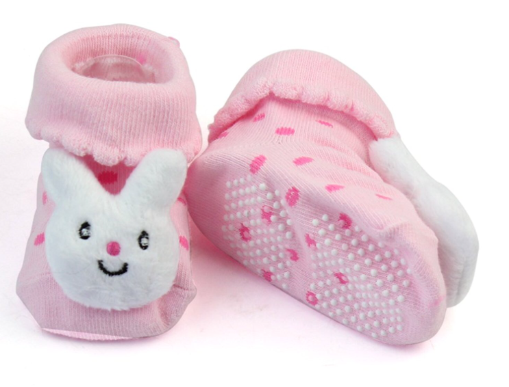 Rabbit baby booties