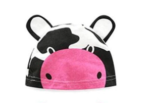 Baby hat - 3 - 6 months (Pink nose Cow)