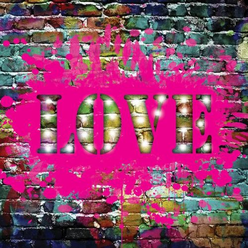 Graffiti LOVE LED canvas