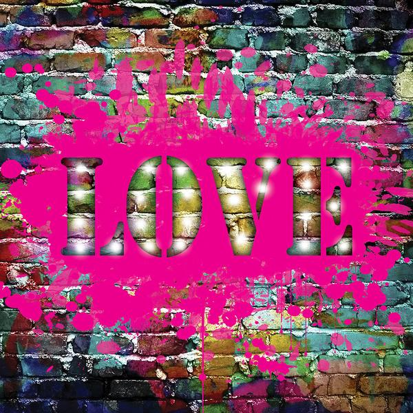 Graffiti LOVE LED canvas