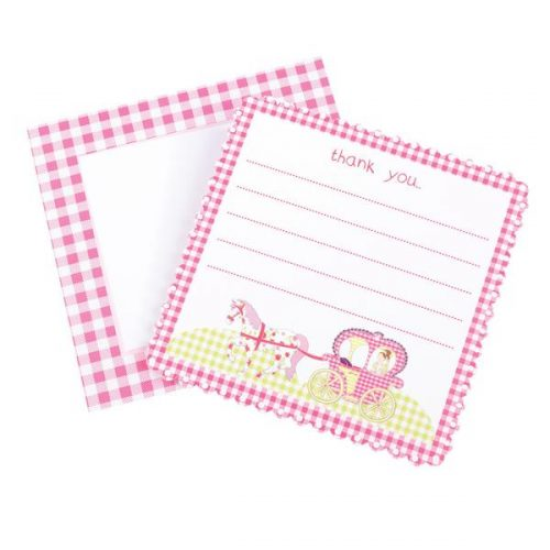 horse and carriage Princess thank you cards