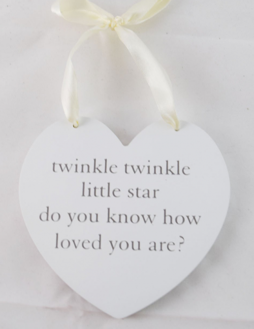 Baby plaque twinkle twinkle little star do you know how loved you are