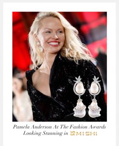 Pamela Anderson wears Amishi - available at Sartorial Boutique and Gifts