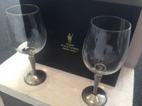 English Pewter Double gentry wine glass set