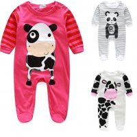 Cow and Panda design Baby grows