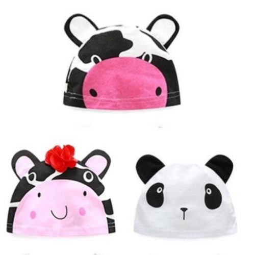 Cow and Panda design Baby hat