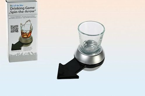 Drinking game - spin the arrow shot glass