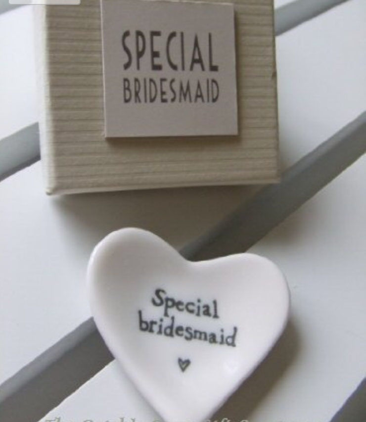 special bridesmaid small ceramic dish