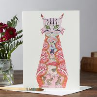 DM collection pink cat card
