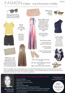 Sartorial Image Consultant - Summer style tips 2017 - Darling Magazine