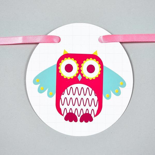 Personalised Owl Bunting