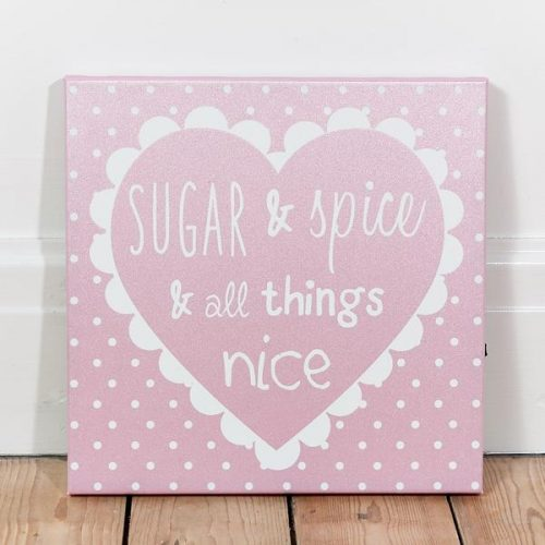 Sugar and Spice LED canvas