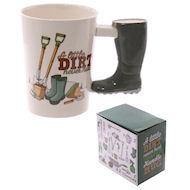 boot handle garden mug