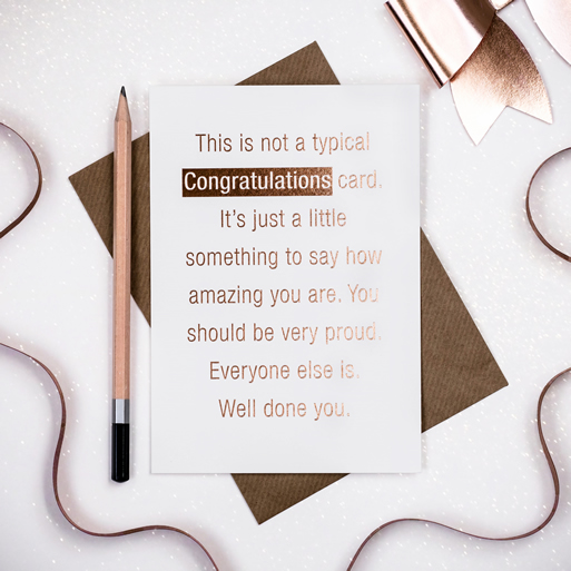 Congratulations - Coulson Macleod card - Sartorial Boutique and Gifts
