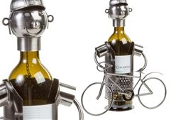 cyclist metal wine bottle holder