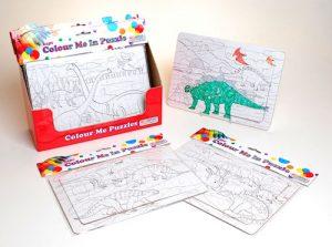 dinosaur colouring puzzle