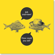 job interview - fishy business Coulson Macleod card