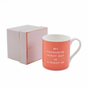 my favourite night out is a night in mug