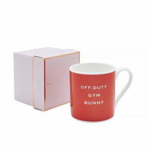 off duty gym bunny mug
