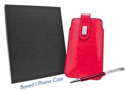 red diamante phone case and pen set