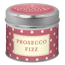 Prosecco Fizz scented candle in a tin